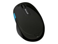 Microsoft Sculpt Comfort Mouse - Mouse - ergonomic - right-handed - optical - 6 buttons - wireless - Bluetooth 3.0 - black - for Surface