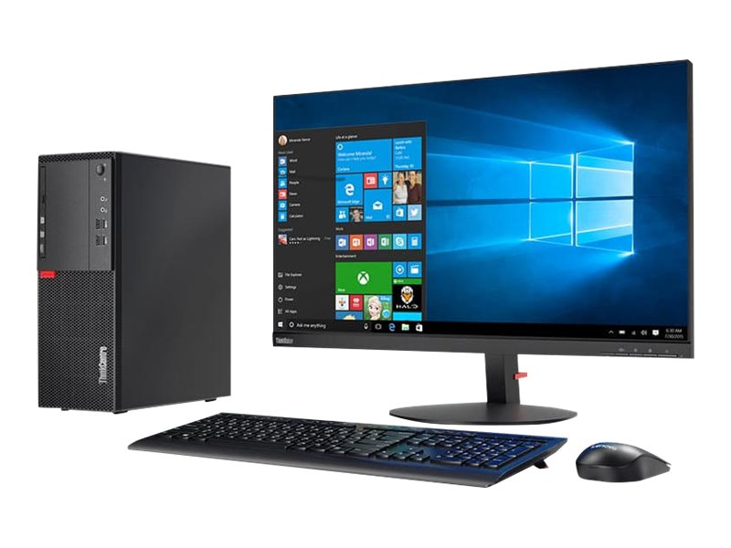 Lenovo ThinkCentre M710t - tower - Core i3 7100 3.9 GHz - 4 GB - HDD 1 TB - US