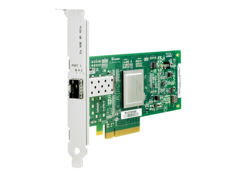 HPE StorageWorks 81Q - Hostbus-Adapter - PCIe 2.0 x4 / PCIe x8 Low-Profile - 8Gb Fibre Channel - für Modular Smart Array 1040; ProLiant DL360p Gen8, DL380 G6, DL385p Gen8, SL210t Gen8