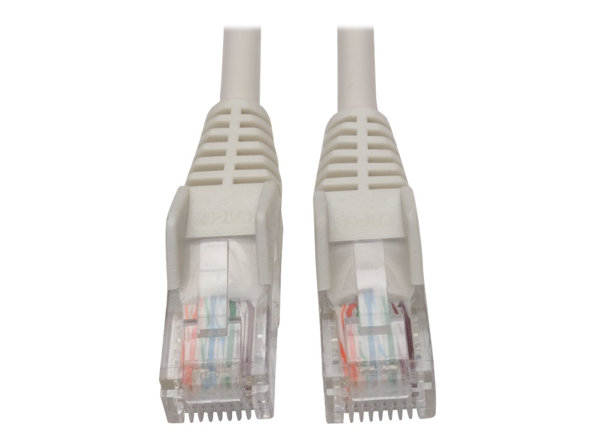 Tripp Lite 5ft Cat5 Cat5e Snagless Molded Patch Cable UTP White RJ45 M/M - patch cable - 1.5 m - white
