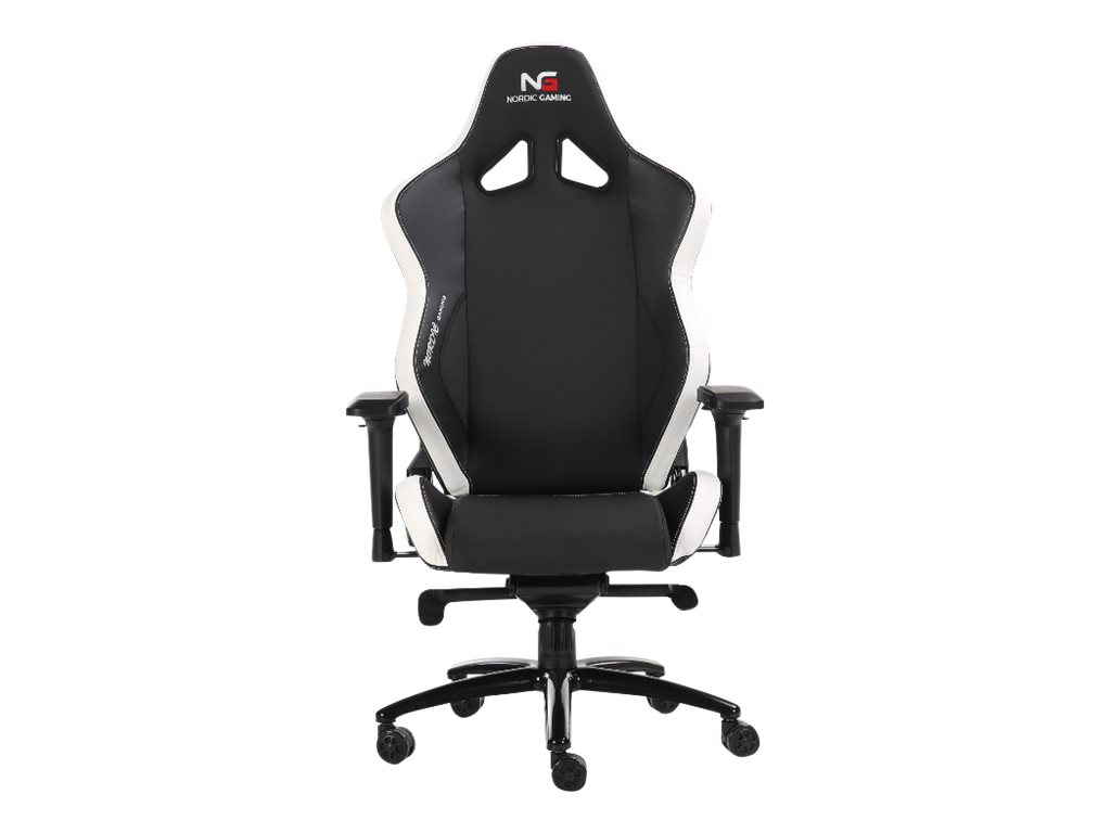 Nordic Gaming Heavy Metal Gaming Chair Black White