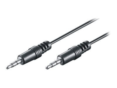 M-CAB HQ - Audiokabel - Mini-Phone Stereo 3,5 mm (M) bis Mini-Phone Stereo 3,5 mm (M) - 1.5 m - Schwarz