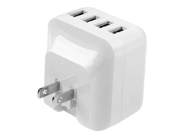 Usb4pacwh Startech Com 4 Port Usb Wall Charger