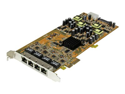 StarTech.com 4 Port Gigabit PoE (Power over Ethernet) Card - PCIe Network Card - PoE / PoE+ Up to 25W Per Port - PCIe N…