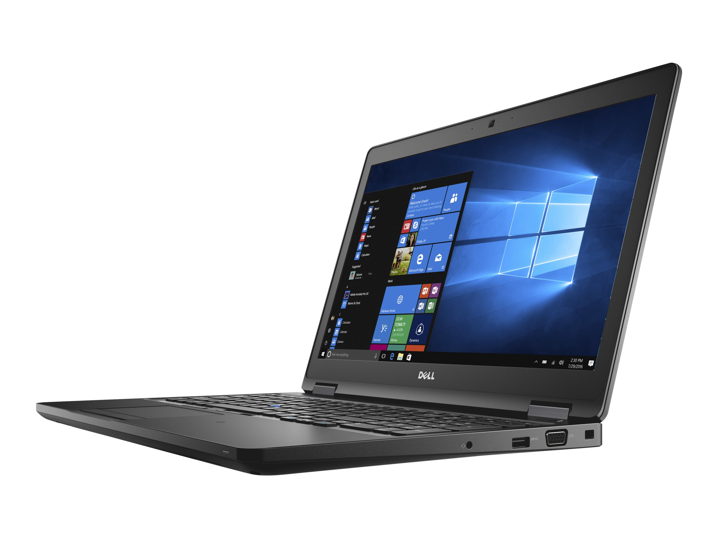 Dell Precision Mobile Workstation 3520 - Core i5 7440HQ / 2.8 GHz - Win 10 Pro 64-Bit - 8 GB RAM - 256 GB SSD - 39.624 cm (15.6