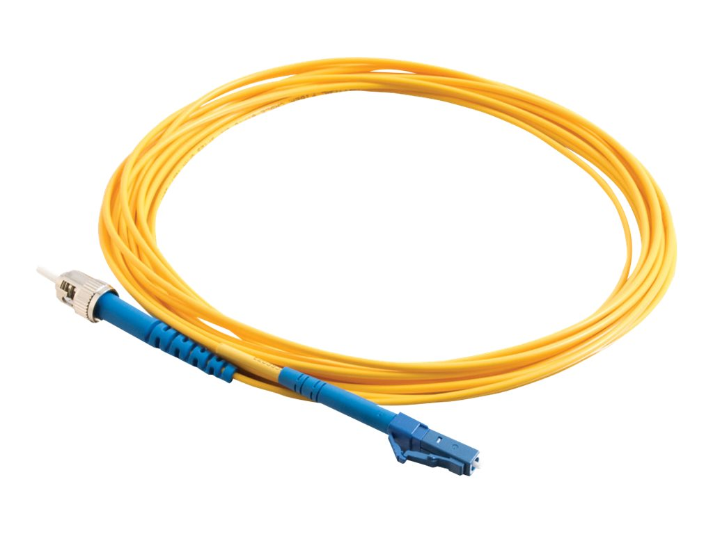 C2G 30m LC-ST 9/125 Simplex Single Mode OS2 Fiber Cable - Yellow - 100ft - patch cable - 30 m - yellow