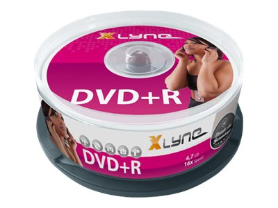 xlyne - 25 x DVD+R - 4.7 GB 16x - Spindel