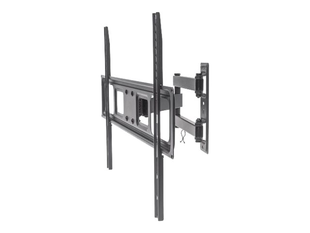 Manhattan Universal Basic LCD Full-Motion Wall Mount - Wandhalterung für gekrümmter LCD TV / Plasmabildschirm - Stahl - Schwarz - Bildschirmgröße: 94-177.8 cm (37