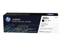 HP 305X Black Dual Pack LaserJet Toner Cartridge
