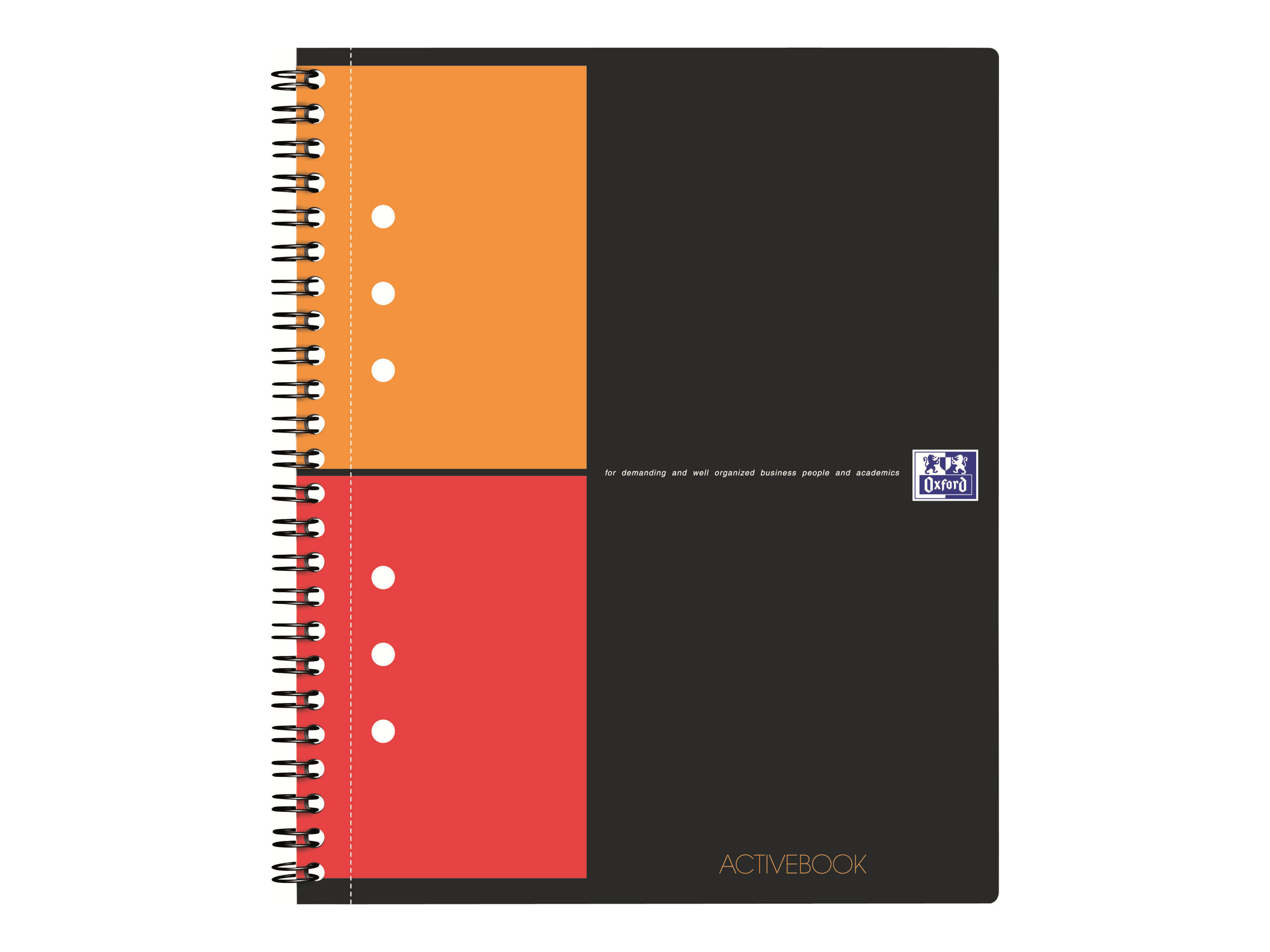 Oxford International ActiveBook - A5 - Cahier - 14,8 x 21 - 160 pages - Petits carreaux