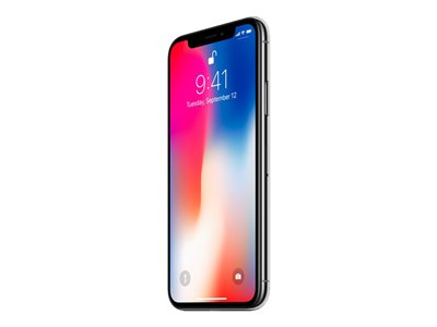 Apple iPhone X - silver - 4G LTE,LTE Advanced - 64 GB - GSM - smartphone