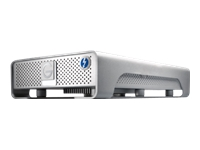 G-Technology G-DRIVE GDRETHU3EB80001BDB - Hard drive - 8 TB - external (desktop) - USB 3.0 / Thunderbolt - 7200 rpm - buffer: 64 MB - Plug and Play - silver
