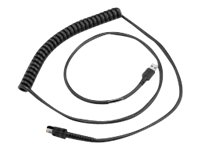 Zebra - Power cable - USB (M) - 12 ft - coiled - for Symbol LI3608; Zebra DS3608, DS3678, LI3608, LI3678, VC80, VH10