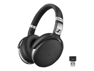 Sennheiser MB 360 UC - Headphones with mic - full size - Bluetooth - wireless - NFC - active noise cancelling - black with silver