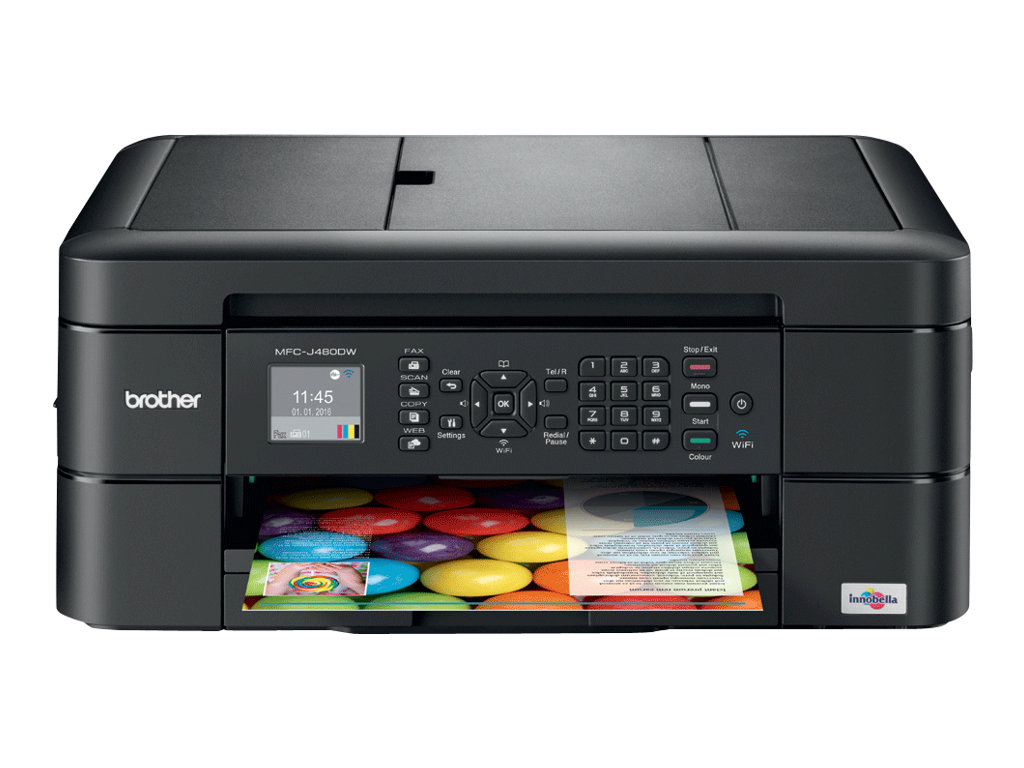 Brother MFC-J480DW - Multifunktionsdrucker - Farbe - Tintenstrahl - Legal (216 x 356 mm) (Original) - A4/Letter (Medien)