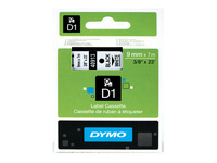 Picture of DYMO D1 - label tape - 1 roll(s) - Roll (0.9 cm x 7 m) (S0720680)