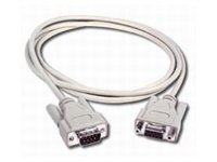 C2G Serial extension cable DB-9 (M) to DB-9 (F) 10 ft molded, thumbscrews beige