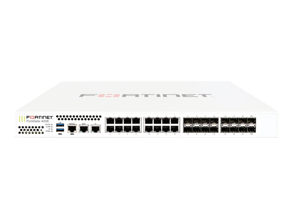 Fortinet FortiGate 400E Series - security appliance - with 5 years FortiCare 8X5 Enhanced Support + 5 years FortiGuard