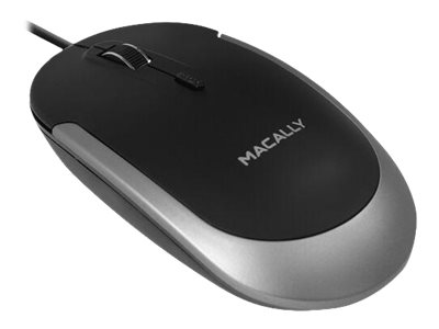 Macally Mouse optical wired USB-C black, space gray