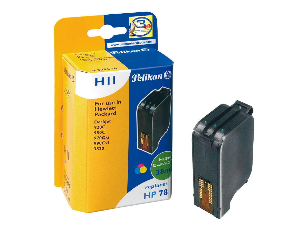 Pelikan H11 - 1 - 37.8 ml - Tintenpatrone (Alternative zu: HP 78) - für HP Officejet 51XX, g55, g85, g95, k60, v30, v40; Photosmart p1115; psc 720, 750, 760, 950