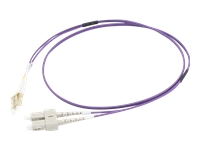 Picture of C2G 2m LC/SC OM4 LSZH Fibre Patch - Purple - patch cable - 2 m - purple (81760)