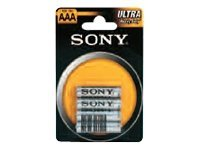 Sony Ultra AAA type Standardbatterier