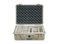 Pelican 1524 Padded Divider Case for camera polycarbonate desert tan