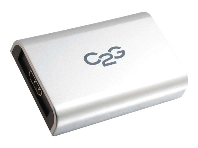 C2G USB to HDMI Adapter with Audio - Adaptateur vidéo externe - USB 2.0 - HDMI - gris