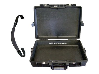 Pelican Laptop Computer Protector Case 1495NF No Foam Notebook carrying case 17INCH black