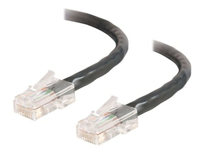 C2G Cat5e Non-Booted Unshielded (UTP) Network Crossover Patch Cable - crossover cable - 50 cm - black