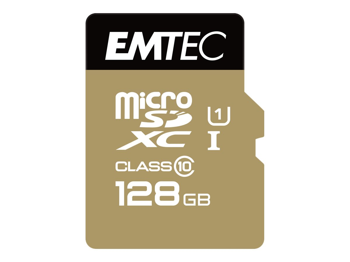 EMTEC Gold+ - Flash-Speicherkarte - 128 GB - Class 10 - SDXC UHS-I