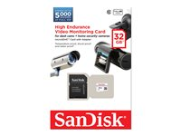 SanDisk - Flash memory card (microSDHC to SD adapter included) - 32 GB - Class 10 - microSDHC