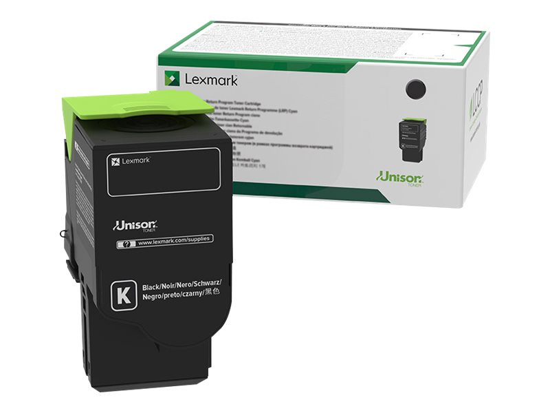 Lexmark 801K - black - original - toner cartridge - LCCP, LRP