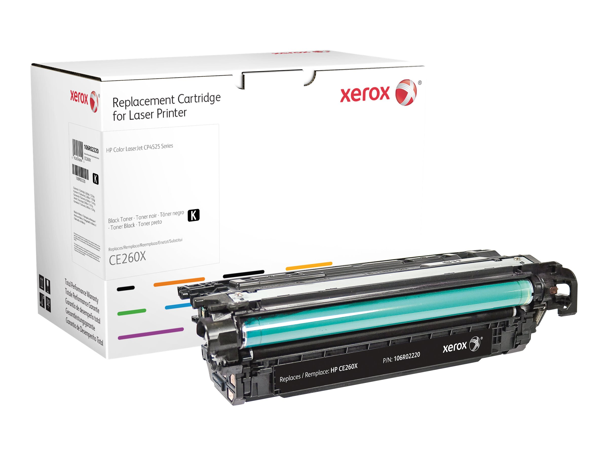 Xerox - black - original - toner cartridge (alternative for: HP CE260X)