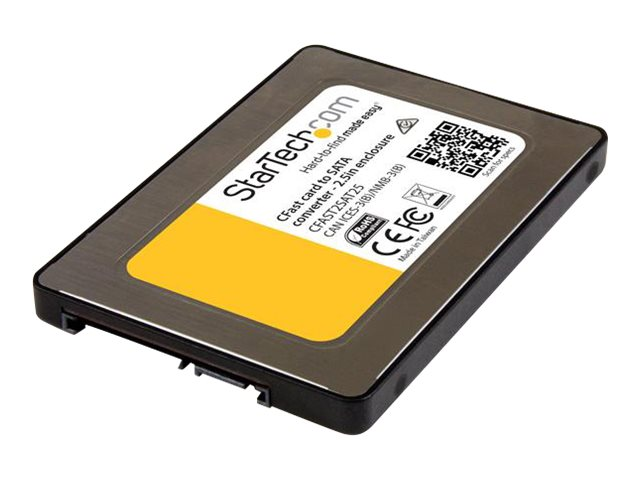 """Image of StarTech.com CFast Card to SATA Adapter with 2.5"""" Housing - Supports SATA III (6 Gbps) - CFast Memory Card Converter - OS Independent (CFAST2SAT25) - storage controller - CFast Card - SATA 6Gb/s"""