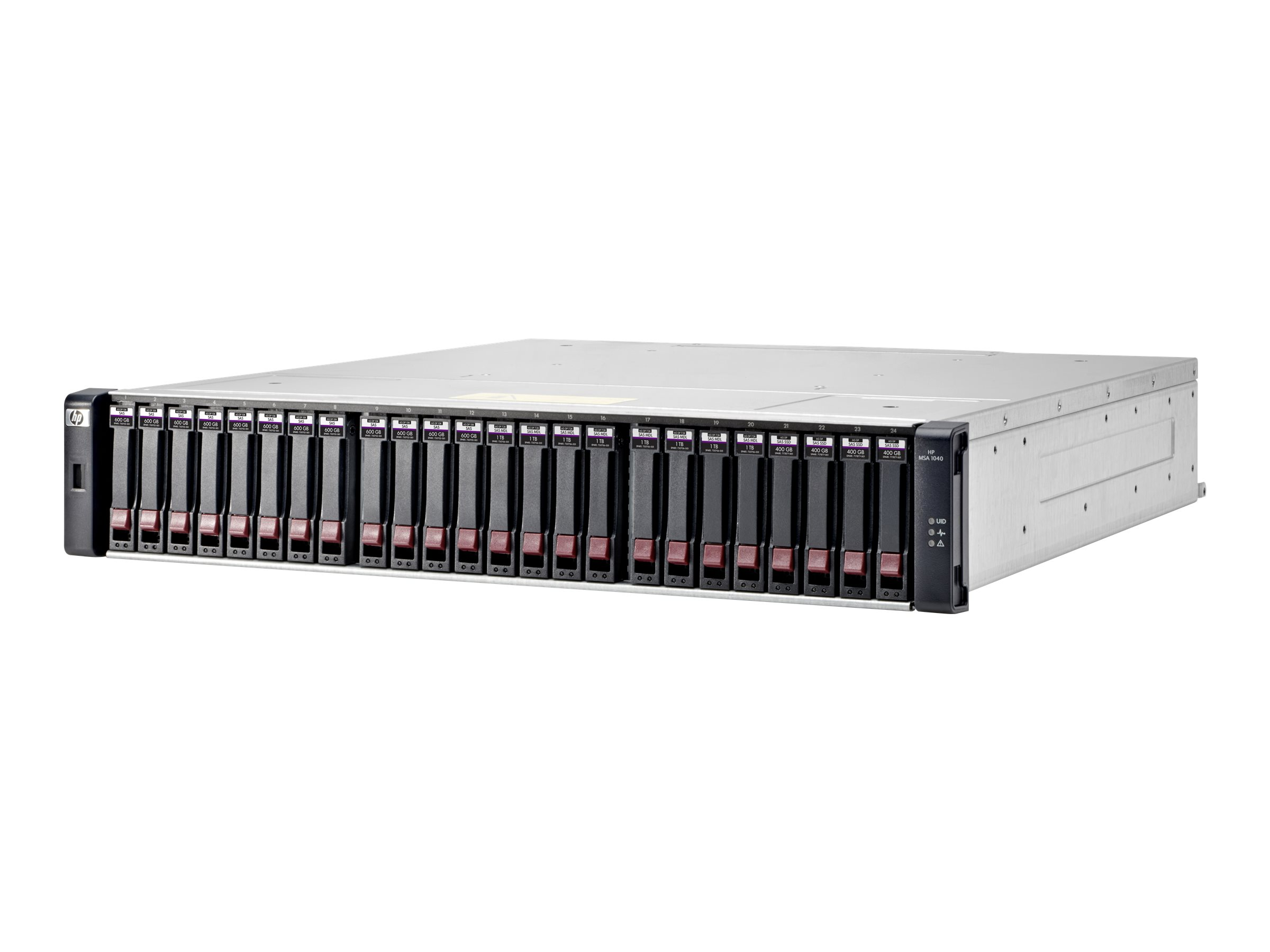 HPE Modular Smart Array 1040 Dual Controller SFF Bundle - hard drive array