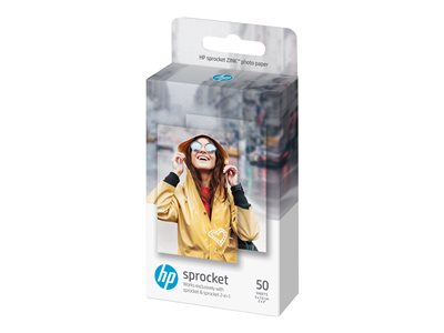HP ZINK Sticky-Backed Photo Paper Fotopapir 50 x 76 mm 50ark
