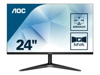 AOC 24B1H LED monitor 23.6INCH (23.6INCH viewable) 1920 x 1080 Full HD (1080p) VA 250 cd/m²