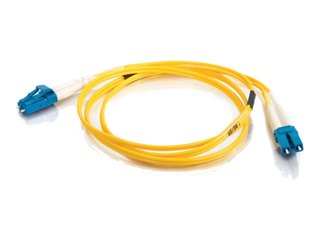 C2G 3m LC-LC 9/125 Duplex Single Mode OS2 Fiber Cable - Yellow - 10ft