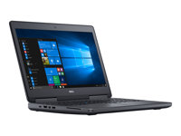 """Dell Precision Mobile Workstation 7520 - Core i7 7700HQ / 2.8 GHz - Win 10 Pro 64-bit - 16 GB RAM - 256 GB SSD - 15.6"""" 1920 x 1080 (Full HD) - Radeon Pro WX 4130 - Wi-Fi, Bluetooth - black - BTP - with 3 Years Dell ProSupport"""