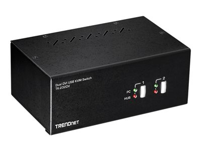 TRENDnet TK-232DV KVM / audio / USB switch Desktop