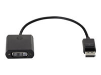 HP - DVI cable - DisplayPort (M) to DVI-D (F) - 7.5 in - for Elite Slice G2; EliteDesk 705 G5, 800 G5; ProDesk 600 G5; ProOne 400 G5, 440 G5, 600 G5