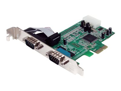 StarTech.com 2 Port Native PCI Express RS232 Serial Adapter Card with 16550 UART - serial adapter