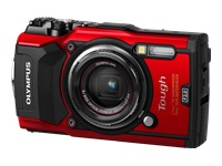 Olympus Tough TG-5 - Digital camera - compact - 12.0 MP - 4K / 30 fps - 4x optical zoom - Wi-Fi - underwater up to 15 m - red