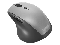 Lenovo ThinkBook Wireless Media - Mouse - ergonomic - right-handed - optical - 6 buttons - wireless - 2.4 GHz - USB wireless receiver - black - for ThinkBook 13; 14; 15; ThinkCentre M720; M75; M90n-1 IoT; ThinkPad E15; V14; V15; V55t-15