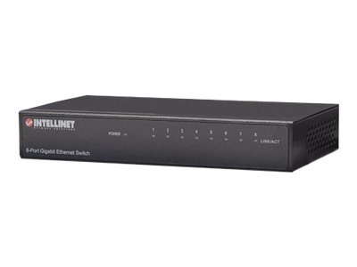 Intellinet Gigabit Ethernet Desktop Switch - Switch - 8 x 10/100/1000 - Desktop