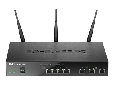 D-Link DSR-1000AC Wireless router 4-port switch GigE WAN ports: 2 802.11a/b/g/n