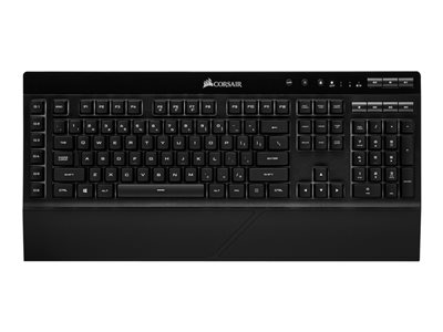 CORSAIR Gaming K57 RGB Keyboard backlit USB, Bluetooth, 2.4 GHz US