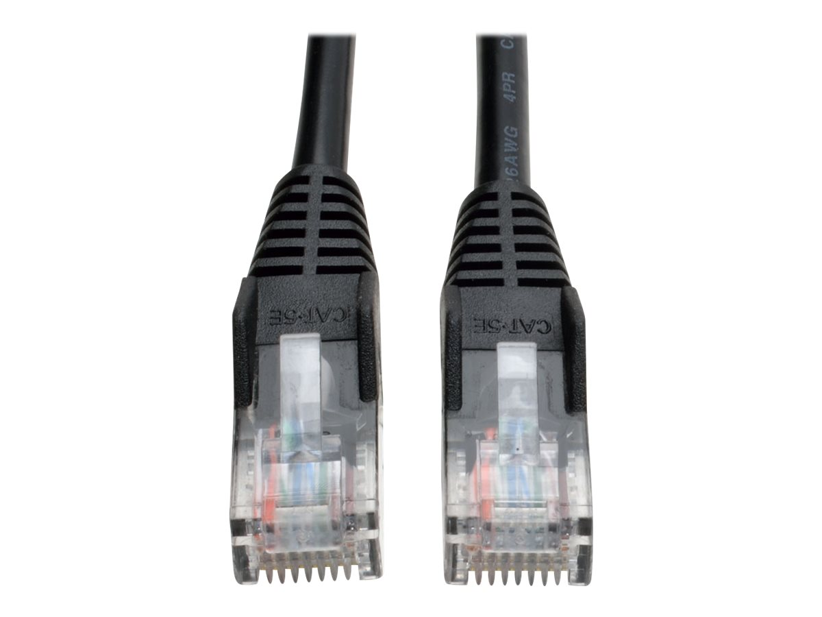 Tripp Lite 10ft Cat5e / Cat5 Snagless Molded Patch Cable RJ45 M/M Black 10' - patch cable - 3 m - black