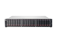HPE Modular Smart Array 2040 SAN w/o SFP SFF Bundle - Hard drive array - 4 TB - 24 bays (SAS-2) - HDD 900 GB x 4 + SSD 200 GB x 2 - 8Gb Fibre Channel, iSCSI (1 GbE), iSCSI (10 GbE), 16Gb Fibre Channel (external) - rack-mountable - 2U - Top Value Lite